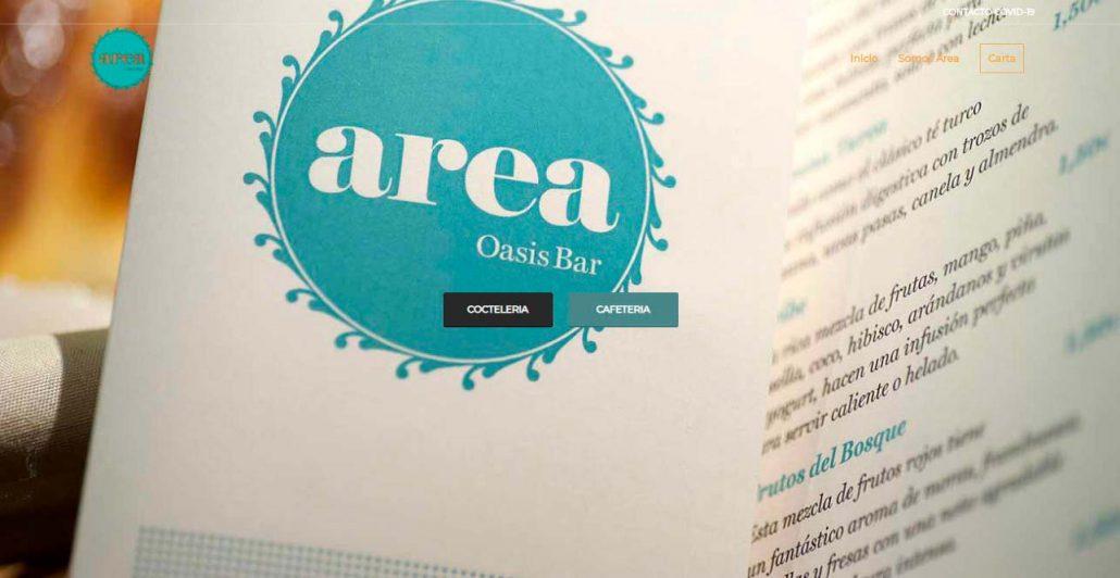 carta Area cafeteria cocteleria